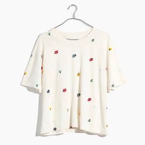 Madewell Easy Crop Tee in Confetti Floral. NWT